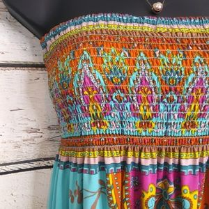 Flying Tomato Dresses - Flying Tomato/ Strapless Sun Dress/ Medium
